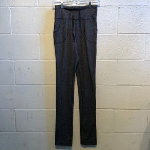 Lululemon gray & black still pant sz 8 59726